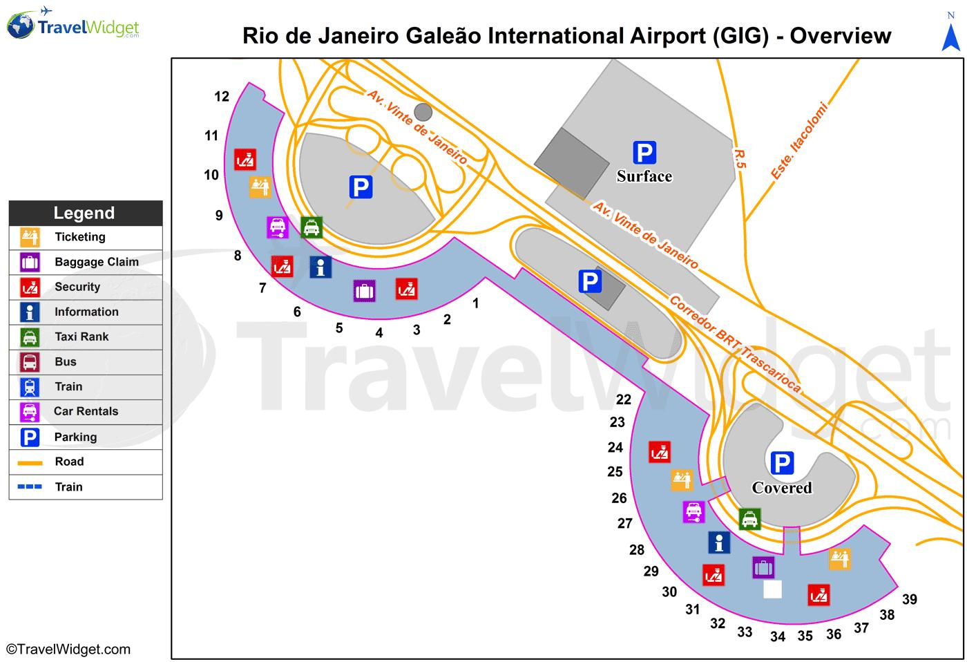 Carte Aeroport Bresil.Plan Aeroport Galeao Terminal Carte Aeroport Galeao