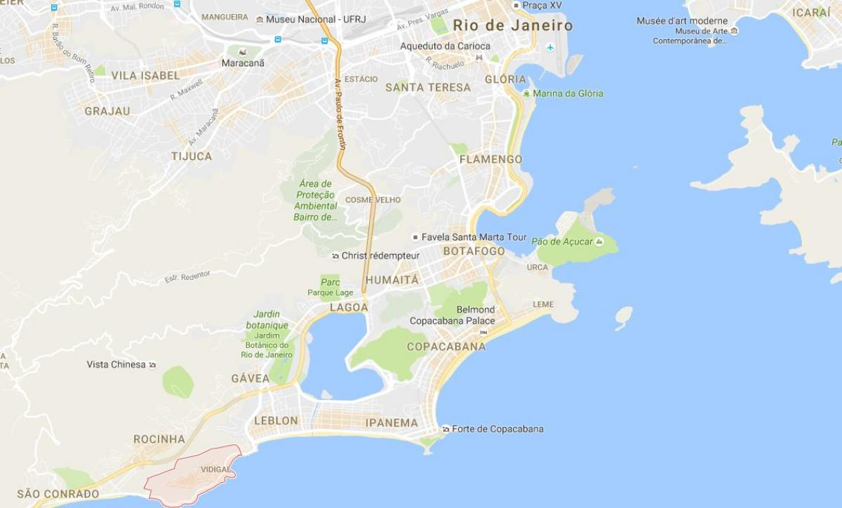 Carte favela de Vidigal