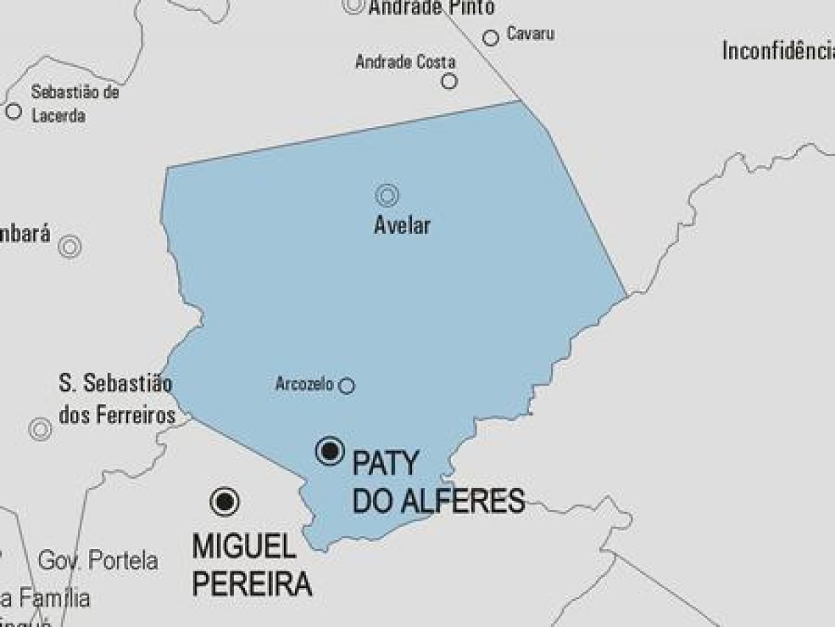 Carte municipalité Paty do Alferes