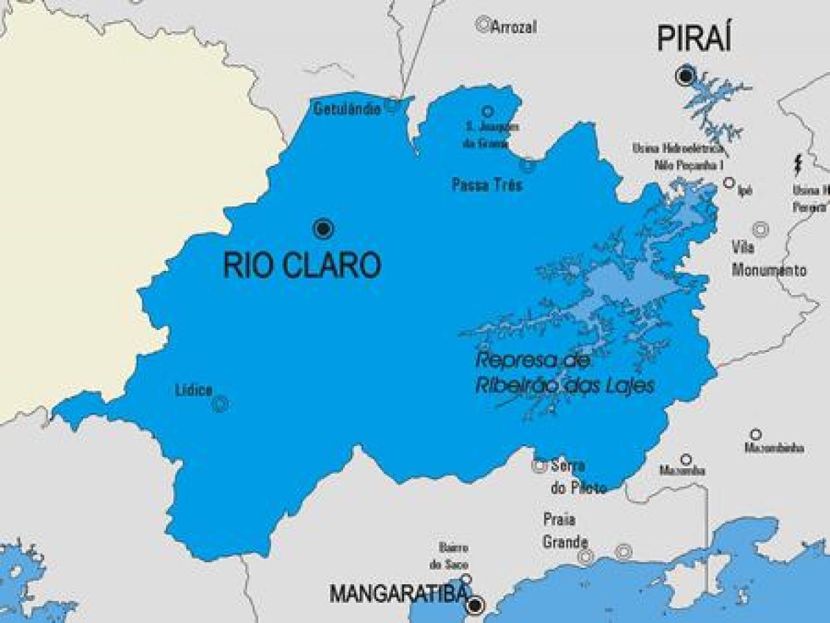 Rio Claro Rio de Janeiro fonte: fr.map-of-rio-de-janeiro.com