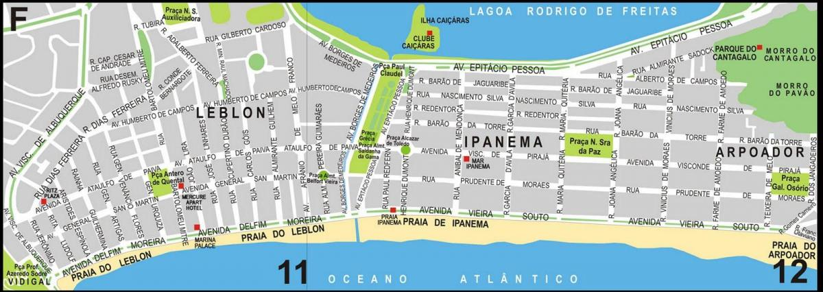Carte plage Ipanema