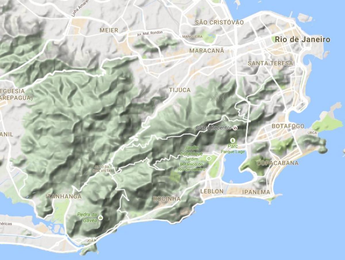 Carte Bresil Relief.Plan Relief Rio De Janeiro Carte Relief Rio De Janeiro Bresil