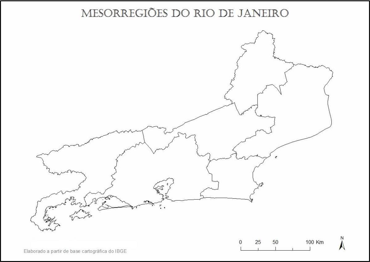 Carte Muette Bresil.Plan Rio De Janeiro Vierge Carte Rio De Janeiro Vierge Bresil