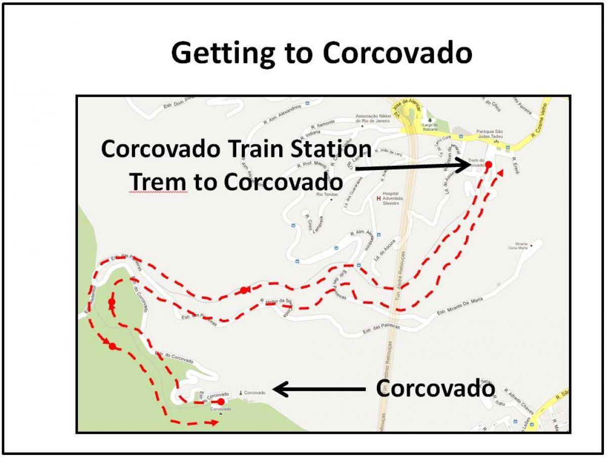 Carte train de Corcovado