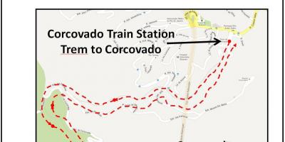 Carte du train de Corcovado